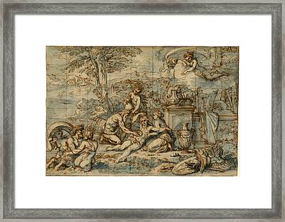 Michel Corneille, The Purification Of Aeneas Framed Print