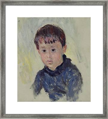 Michel Monet Framed Print by Claude Monet