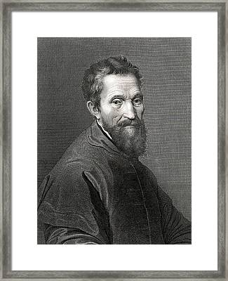 Michelangelo Framed Print by Collection Abecasis