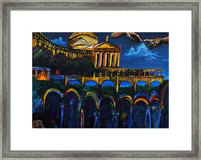 Michelangelo Renaissance Arches Framed Print by Impressionism Modern and Contemporary Art  By Gregory A Page