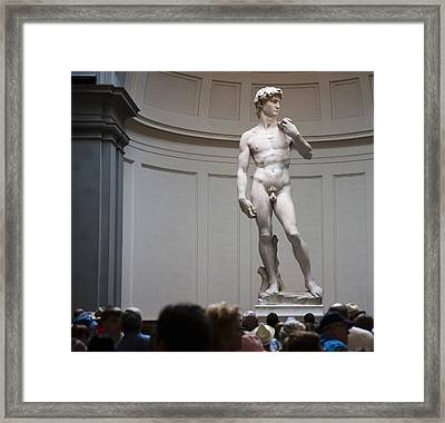 Michelangelo's David Framed Print