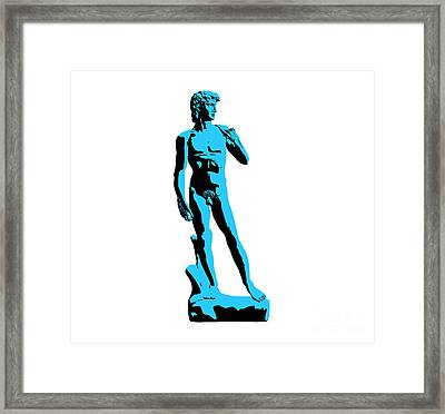 Michelangelos David - Stencil Style Framed Print by Pixel Chimp