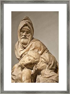 Michelangelo's Final Pieta Framed Print by Melany Sarafis
