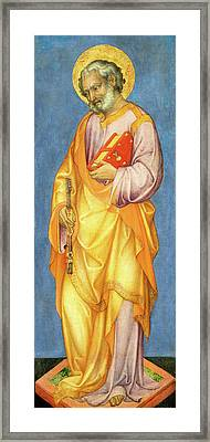 Michele Giambono, Saint Peter, Italian, Active 1420-1462 Framed Print by Litz Collection