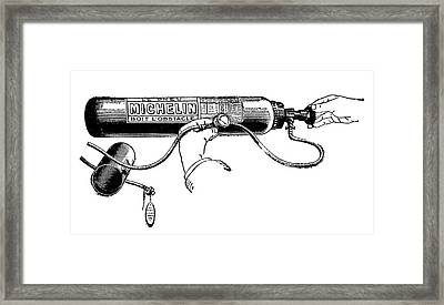 Michelin Air Cylinder Framed Print by Science Photo Library