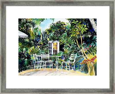 Michelle And Scott's Key West Garden Framed Print by Phyllis London