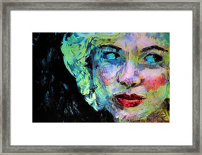 Framed Print featuring the digital art Michelle As Marilyn by Jim Vance