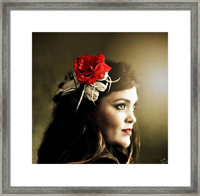 Michelle Bailey Framed Print by Ally  White