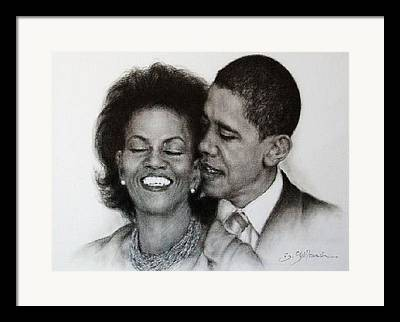 Michelle Et Barack Obama Framed Prints