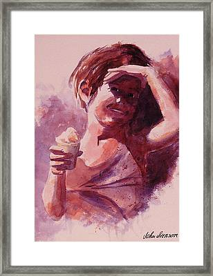 Framed Print featuring the painting Michelle by John  Svenson