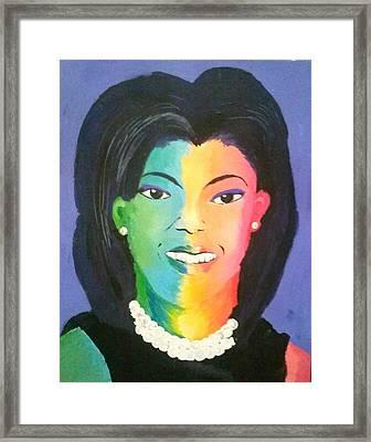Michelle Obama Color Effect Framed Print by Kendya Battle
