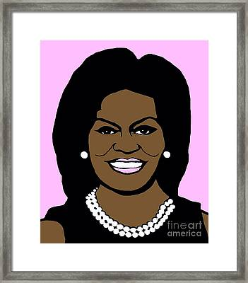 Michelle Obama Framed Print by Jost Houk