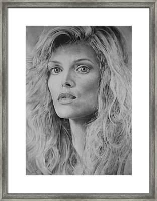 Michelle Pfeiffer Framed Print by Damir Kulusic