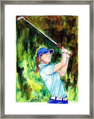 Michelle Wie Framed Print by Dave Olsen