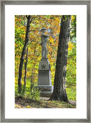 Michigan At Gettysburg - 24th Michigan Volunteer Infantry-2a Iron Brigade Near Willoughby Run Framed Print