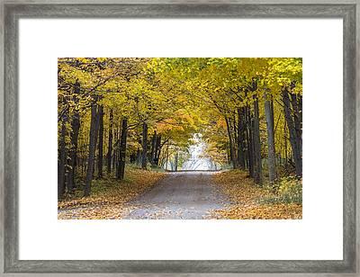 Michigan Autumn Road Framed Print by John McGraw