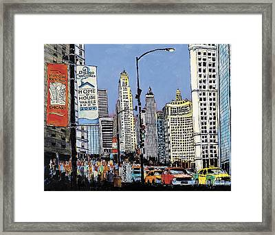Michigan Ave Chicago  Framed Print