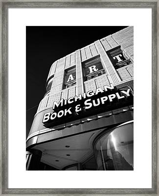 Framed Print featuring the photograph Michigan Book And Supply by James Howe