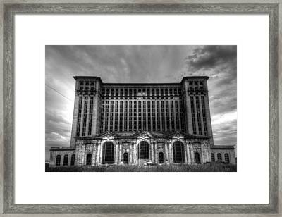 Michigan Central Station Bw Framed Print