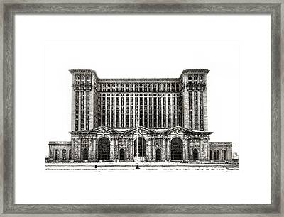 Michigan Central Station Framed Print by James Howe