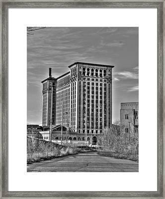 Michigan Central Station Framed Print by Nicholas  Grunas