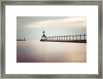 Michigan City Lighthouse Picture Framed Print