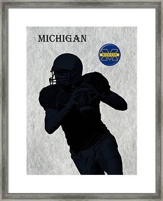 Michigan Football  Framed Print by David Dehner