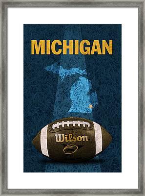 Michigan Football Poster Framed Print