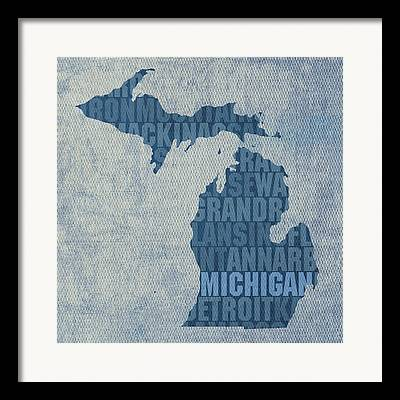 Michigan Art Framed Prints