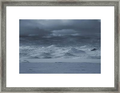 Michigan Sand Dunes In Winter Framed Print by Dan Sproul