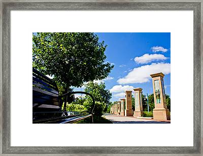 Michigan State Bench  Framed Print by John McGraw