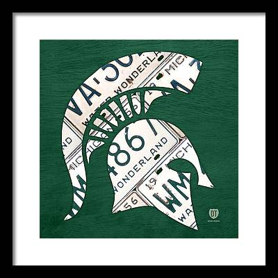 Michigan State Framed Prints