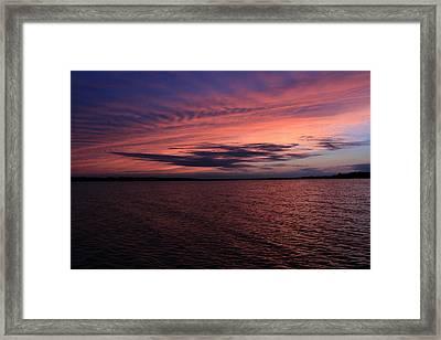 Michigan Sunset Framed Print by Abby Ellis