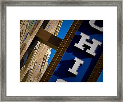 Framed Print featuring the photograph Michigan Theater Marquee by James Howe