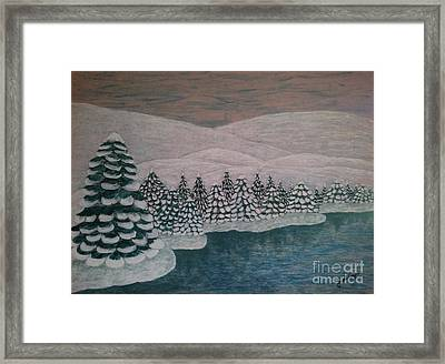 Michigan Winter Framed Print by Jasna Gopic