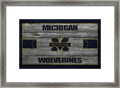 Michigan Wolverines Framed Print by Joe Hamilton