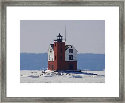 Michigan's Round Island Lighthouse Framed Print