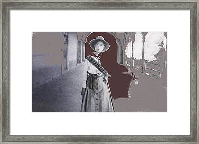 Michoacan Lady Mexican Fighter 1921-2014.  Framed Print by David Lee Guss