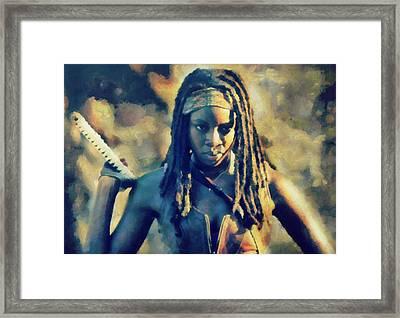 Michonne Framed Print by Janice MacLellan