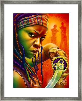 Michonne Framed Print