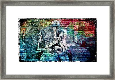 Mick And Keith - Stonehenge Framed Print by Absinthe Art By Michelle LeAnn Scott