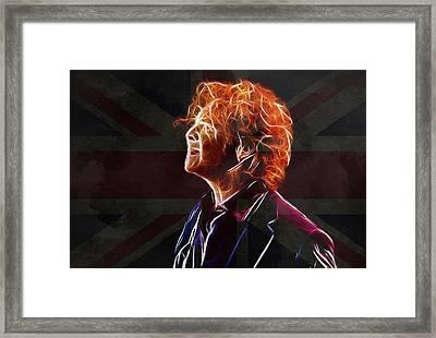 Mick Hucknall Framed Print by Steve K