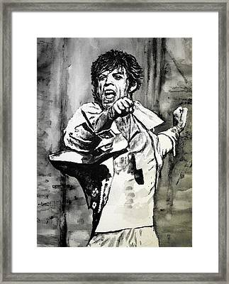 Mick In Motion II Framed Print by Todd Spaur