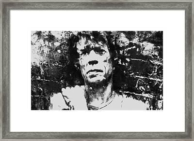 Mick Jagger 3a Framed Print