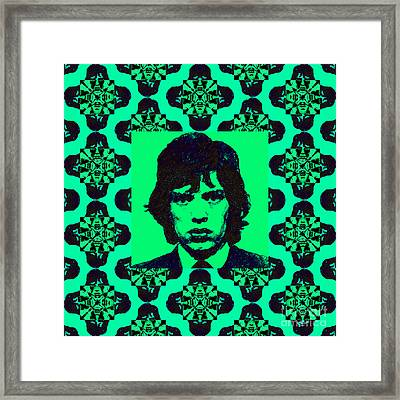 Mick Jagger Abstract Window P128 Framed Print by Wingsdomain Art and Photography