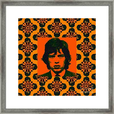 Mick Jagger Abstract Window Framed Print by Wingsdomain Art and Photography