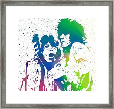 Mick Jagger And Keith Richards Framed Print