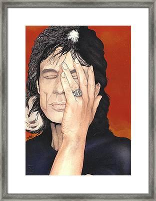 Mick Jagger Framed Print by Andrea Schiavetti
