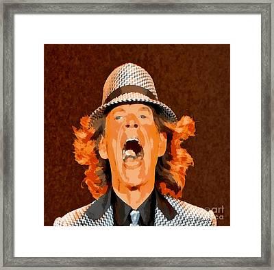 Mick Jagger Framed Print by Elizabeth Coats