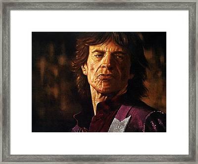 Mick Jagger Framed Print by Guy McIntosh